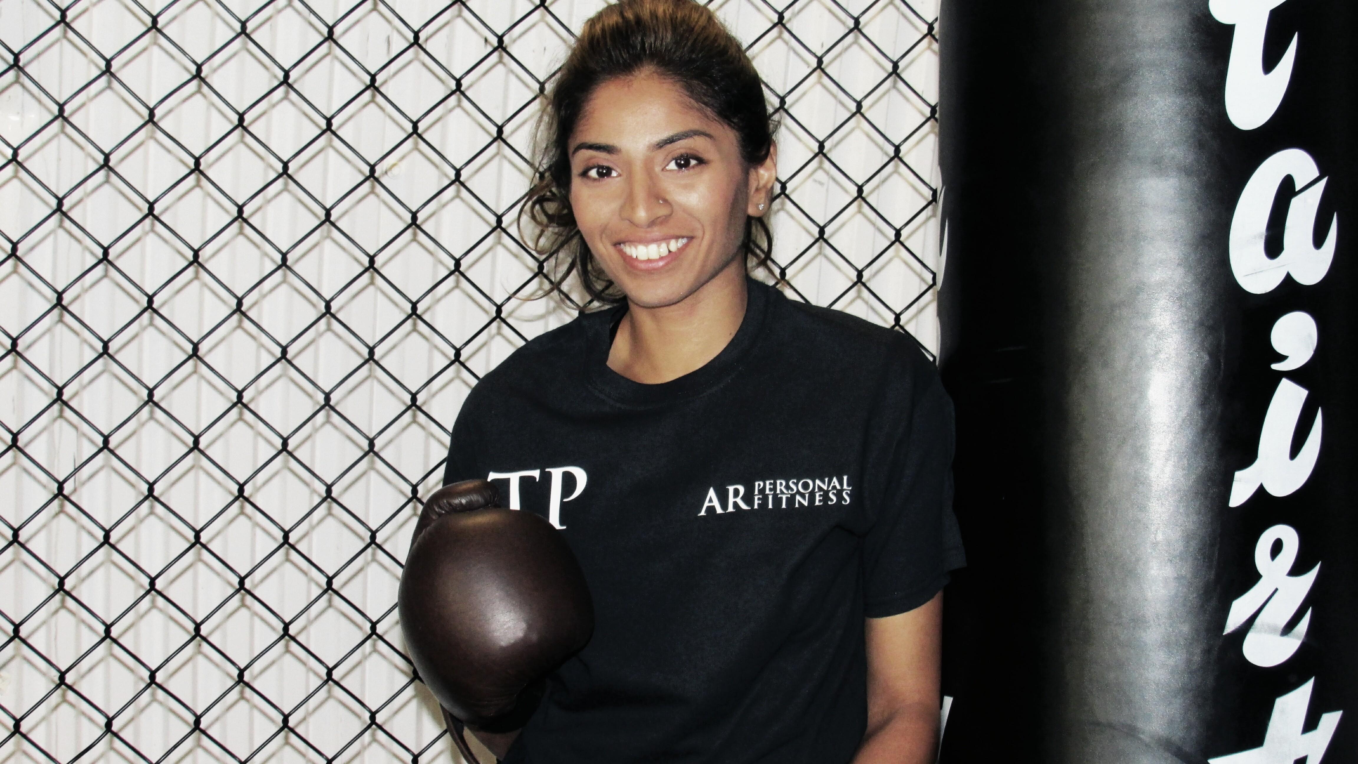 Tej Patel showing girl power