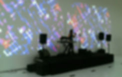 MARTIN REV performing at Mac Val museum, projection video by DIVINE ENFANT
