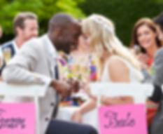 le jour J de l'événement de mariage