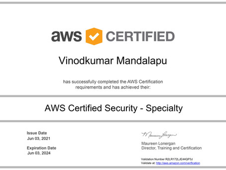 How I passed AWS Security Specialty Exam