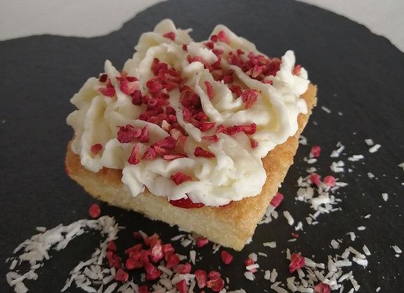 Coconut & Raspberry Cake (Individual portion)