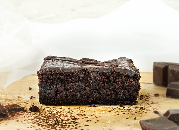 Double chocolate brownie (slice)