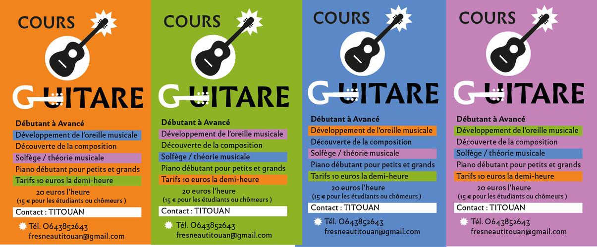 Flyer Cours de Guitare