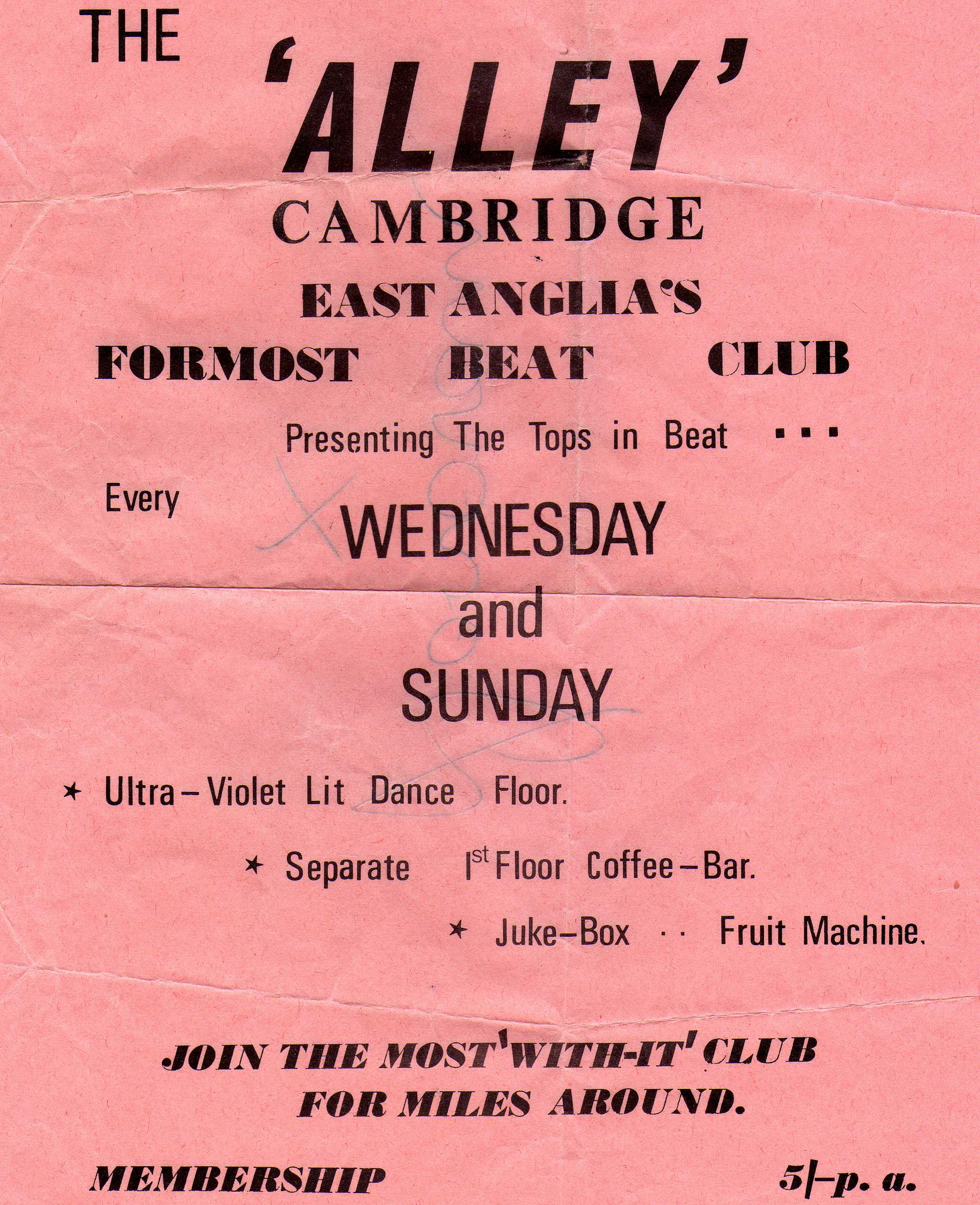 Alley Club flier