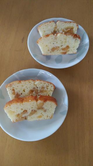 ドライりんごでパウンドケーキ
