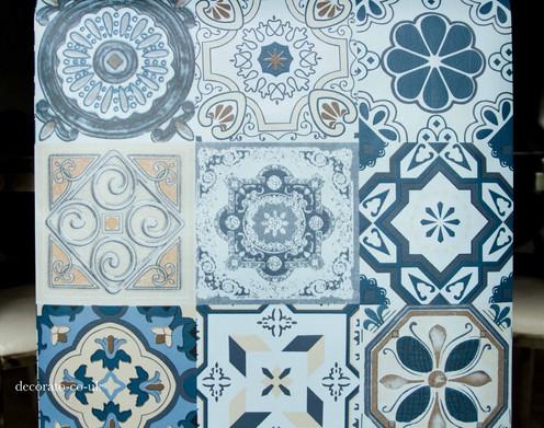 10m Moroccan Tiles Pvc Wallpaper Kitchen Decal Mosaic Blue Patterned Large Diy