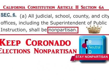 Keep Coronado Elections Nonpartisan