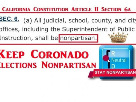 Keep Coronado Elections Nonpartisan