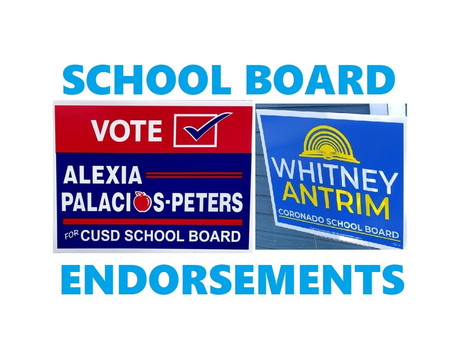 Alexia Palacios-Peters and Whitney Antrim for School Board