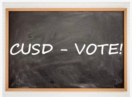 The Race is on for CUSD Board Election