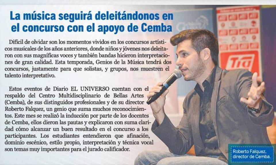 Roberto Falquez en Genios 3