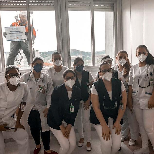Ação Social 2020 realizada durante a pandemia pela Executar em parceria com Hospital Conceição
