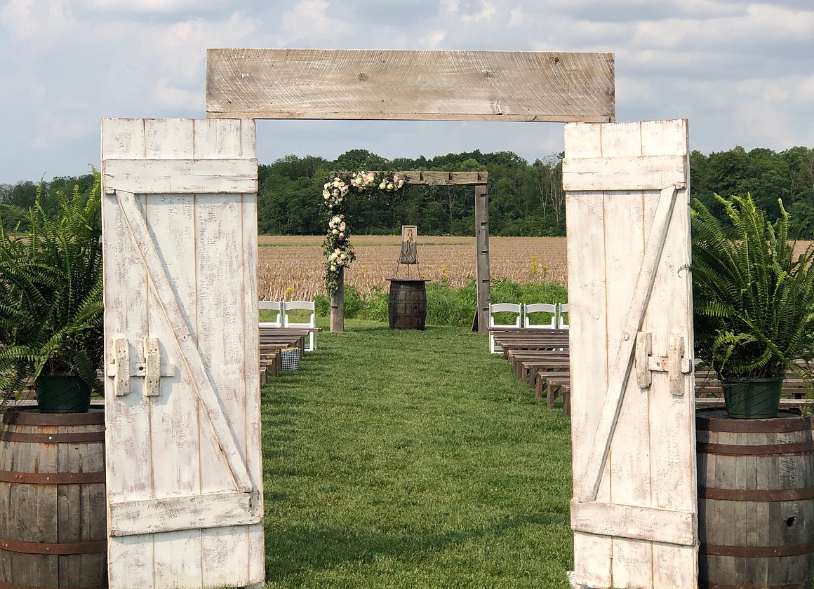 Rustic Ceremony Barn Doors