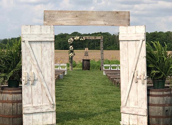 Rustic Ceremony Barn Doors