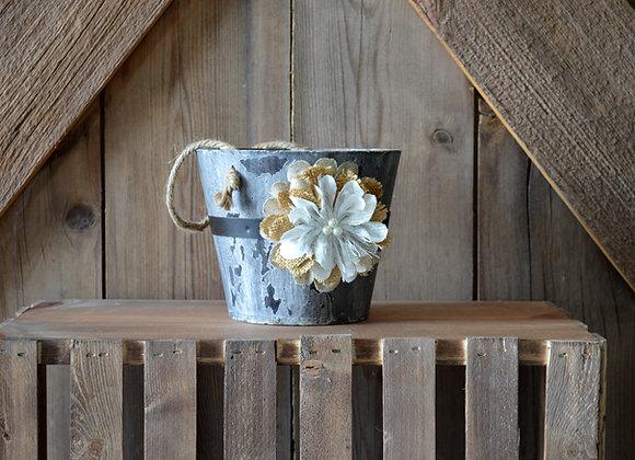 Flower Girl Wood Bucket
