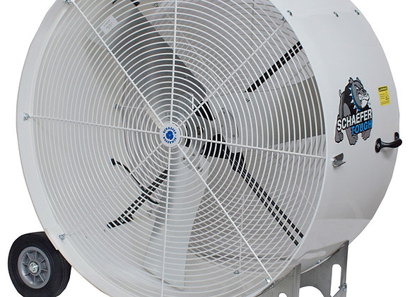 36 in White Mobile Drum Fans (2 Units)
