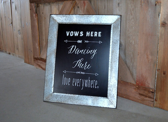 Vows Here Metal Sign
