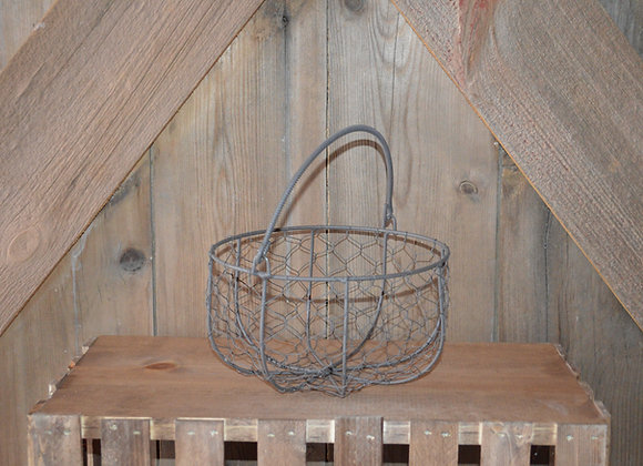 Metal Flower Girl Basket