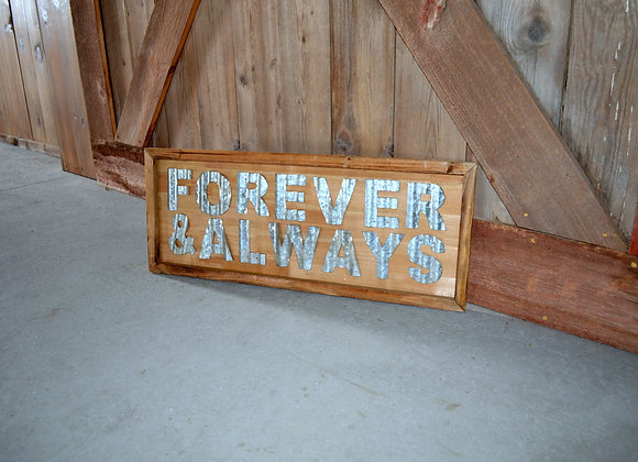 Forever & Always Wood Sign