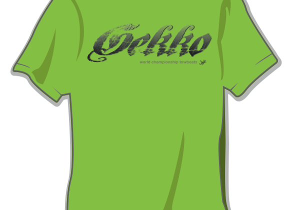 Lime Gothic Script Logo Tee