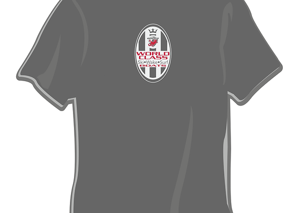 Gray World Class Oval Icon Tee