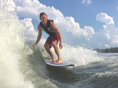 EVEN A SKIER CAN SURF.