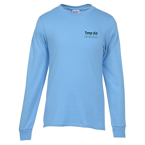 Port 50/50 Blend Long Sleeve T-Shirt (Box of 12) Screen Print