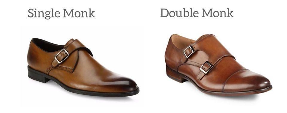vrste i razlika između monk strap cipela