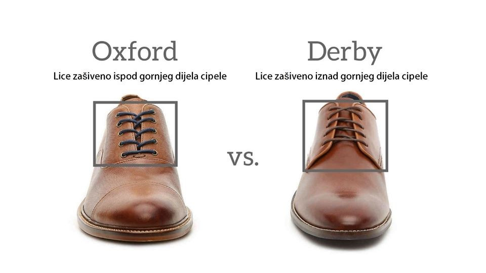 razlika između oxford i derby stila cipela