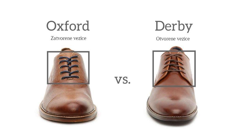 razlika između oxford i derby stila izrade cipela
