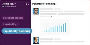 Slack's way of organizing conversations