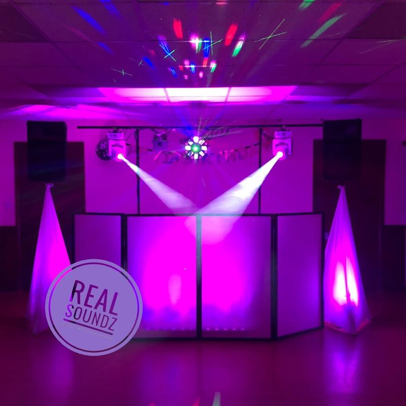 purple set up