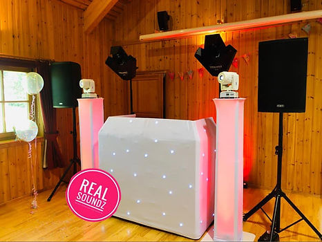 1 of our wedding set ups real sounds dj
