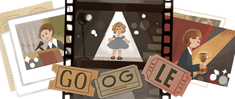 Shirley Temple Honored with Google Doodle