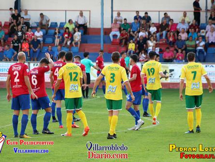 Imágenes del CP Villarrobledo 4 Atlético Tomelloso 0. Por Pedran Lozano