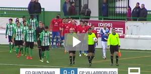 Imágenes del partido que disputaron el pasado sábado los equipos del Quintanar del Rey y el CP Villarrobledo.