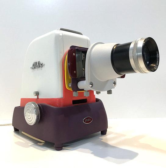 Projecteur diapo Aldis Blanc et Rouge brun