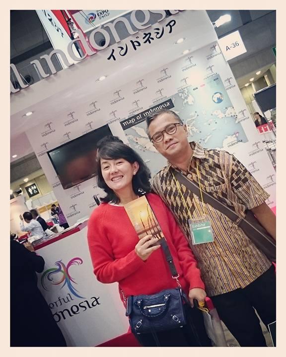 Visiting Bali Plus Owner at Tokyo Exhibition