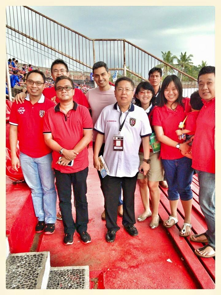 Watching Bali United with CEO of Multistrada