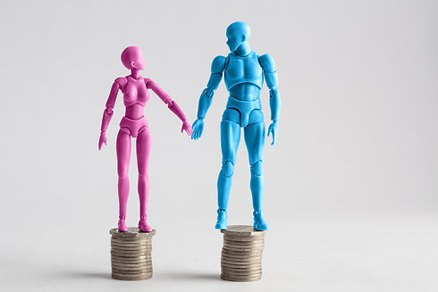 Male and female figurines holding hands