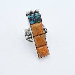 R12 Persian Turquoise with coral ring