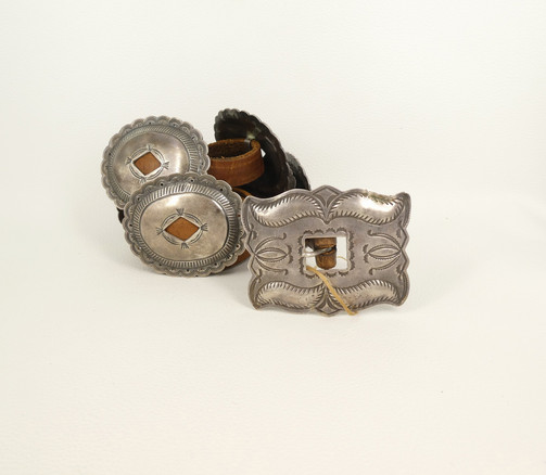 Fabulous 1st phase style Navajo belt from the 1920's