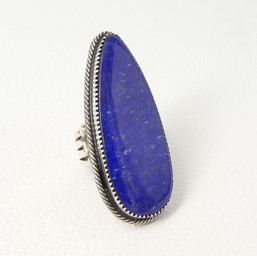 R4 Lapis and silver ring