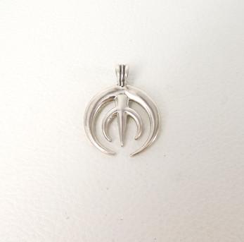 Silver contemporary Navajo naja pendant
