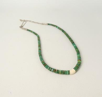 Deep green turquoise Piki Wadsworth heishi