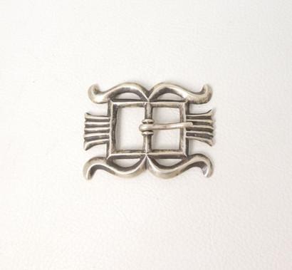 Vintage Navajo sandcast silver buckle