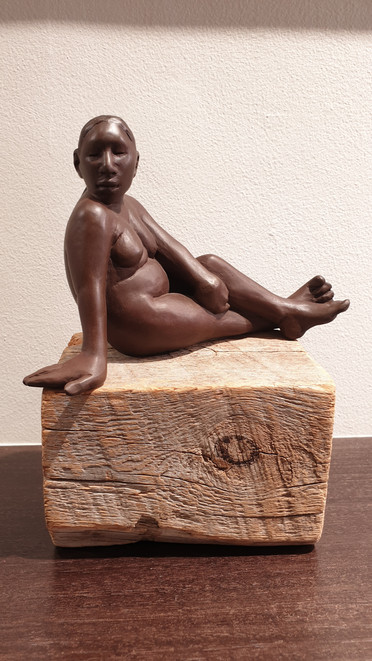 'Little Mama' Small-medium bronze by Santa Clara Pueblo artist Roxanne Swentzell