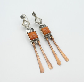 Silver, copper with orange spiny shell by Mike Bird Romero