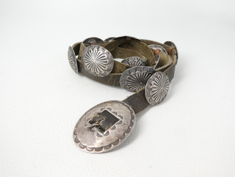 1930's small Navjo conch belt