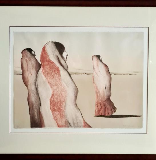 Original lithograph 'Desert Women' by R.C.Gorman